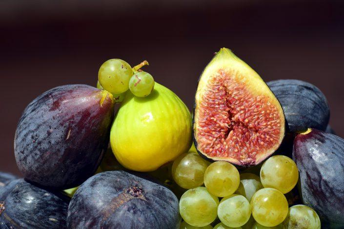 ttenzione agli zuccheri di uva, fichi e cachi